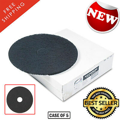 Stripping Floor Pads, 12 in. Standard Use with Roto Auto Scrubbers (Case of 5)