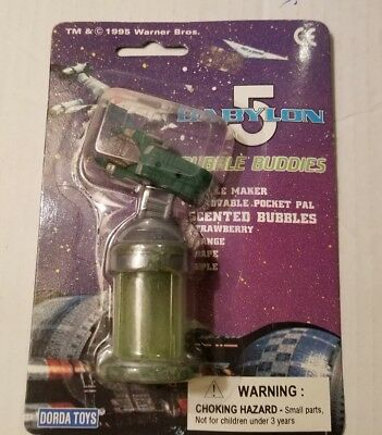 1995 BABYLON 5 BUBBLE BUDDIES. BUBBLE MAKER. NIP. APPLE.          (E9#19dr)