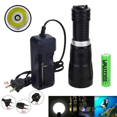 Underwater 100m 10000LM XM-L T6 LED Scuba Diving Lights Flashlight 18650/26650