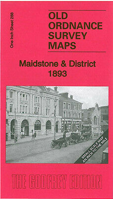 Old Ordnance Survey Map Maidstone Boxley Charing Lenham Headcorn Smarden 1893