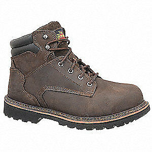 THOROGOOD SHOES Work Boots,11-1/2,W,Brown,Steel Toe,PR, 804-4278115W, Brown
