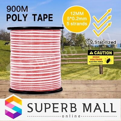 900M Electric Stainless Steel UV Stabilized Fence Wire Poly Tape Roll Polytape