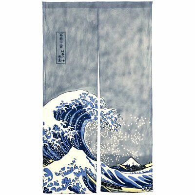 NeoConcept Japanese Noren Ukiyoe The Great Wave off Kanagawa Door Way Curtain