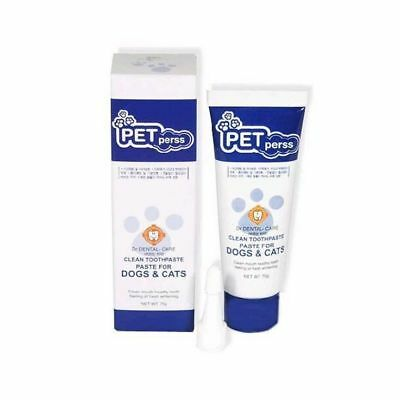 PETperss Pets Dogs Cats Covering Toothpaste Teeth Cleaner Dental Care 70g r_u