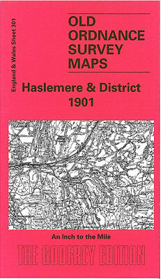 Old Ordnance Survey Map Haslemere 1901 Liphook Ewhurst Billingshurst Cranleigh