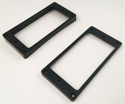 Allparts PC-0733-023 Humbucker Mounting Ring Set - Black Curved for Les Paul