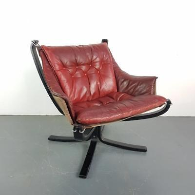 DANISH FALCON CHAIR SIGURD RESSELL RESELL 70s MIDCENTURY CHESTNUT BROWN #2086b