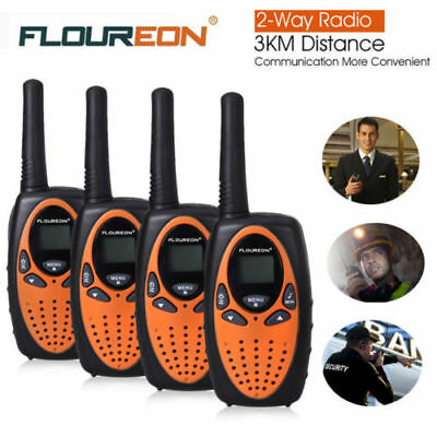 4X 8CH Walkie Talkies LCD PMR Intercom Two-Way Radio Interphone 3KM Long Range