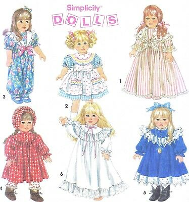 VINTAGE DOLL Clothing Sewing Pattern 14 16 In Victorian Dress Coat ...