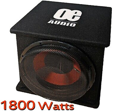 """12"""" inch Car Audio Active Amplified Built in Amplifier Bass Sub Boom Box 1500 W"""