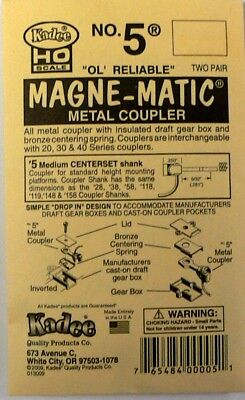 HO Scale Model Railroad Trains Layout Kadee Magnetic Knuckle Couplers # 5 2 Pair
