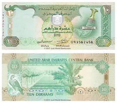 United Arab Emirates 10 Dirhams 2013 P-27c Banknotes UNC