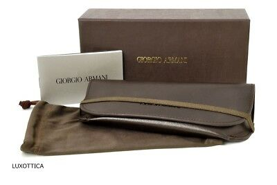 3851aedd81d New Giorgio Armani Sunglasses Eyeglasses Brown Soft Case Authentic Magnetic  Life