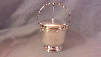 FB Rogers Major AB Adversis Silver Plate Ice Bucket Self Open