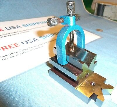 All Angle Ultimate V Block with Clamp Set Toolmakers Vee Blocks FREE SHIP TODAY