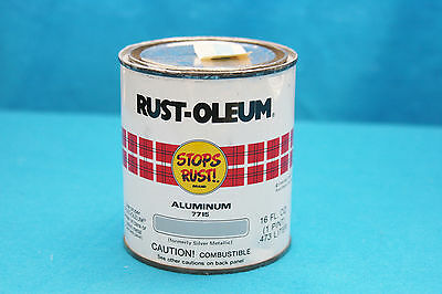 Vintage 1983 Rust-Oleum Aluminum Tin Can  #7715 - One Pint (Z)