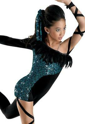 Dance Costume 6X-7 Child Jazz Animal Jungle Blue Solo Competition Pageant Glitz