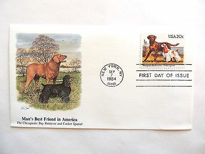 """September 7th, 1984  """"Man's Best Friend in America"""" First Day Issue Lot C"""