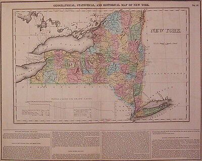 1823 Carey & Lea Geographical, Historical and Statistical Map of New York