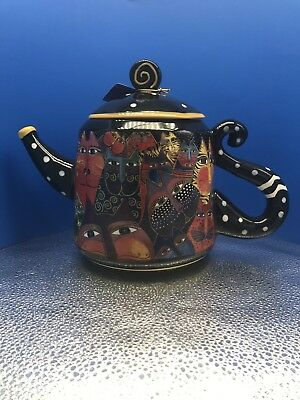 "New Laurel Burch ""Fantasticats"" Ceramic Tea Pot 48oz Item No.#26025 By Westland"
