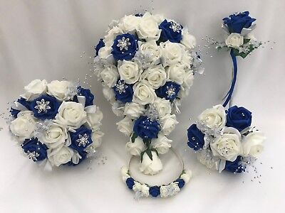 royal blue,wedding bouquets, flowers, posy, buttonholes, brides, bridesmaid,