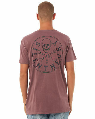 New Silent Theory Men's Expiration Mens Tee Crew Neck Cotton Red