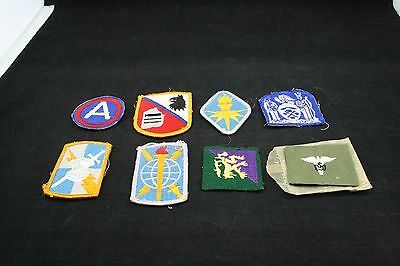 Lot of 9 Military Patches WWII Army Military World War II