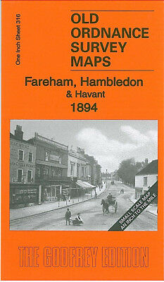 Old Ordnance Survey Map Fareham Hambledon Havant Cosham Titchfield Emsworth 1894