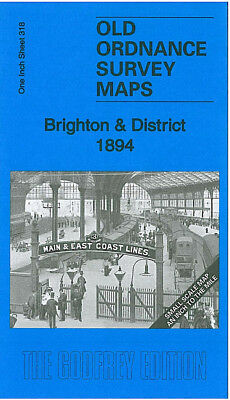Old Ordnance Survey Map Brighton Burgess Hill Hassocks Shoreham Wivelsfield 1894