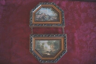 Decorative Double Hung Pastoral/ French Provincial Style Print