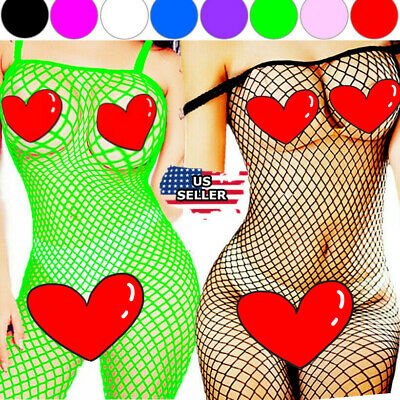 Fishnet Body Stockings Bodysuit Babydoll New Sleepwear Women's Adult Lingerie