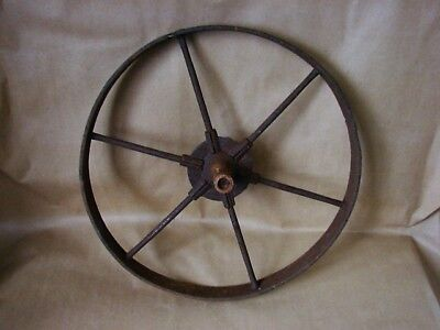 "Antique, Metal 6 Spoke 16"" Wheelbarrow WHEEL, vintage"