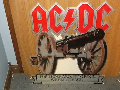 1980's Ac/dc For Those About To Rock We Salute You Cardboard Display Standup