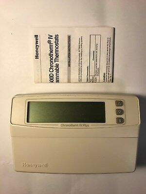 Honeywell T8600D 2028  Chronotherm IV Plus Deluxe Programmable Thermostat Great!