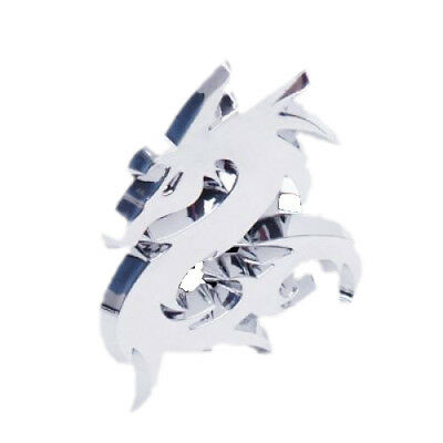 3D Dragon Car Emblem Badge Decal Sticker Silver G6Q1