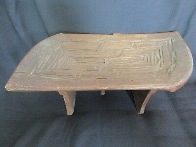 Old African Tribal Carved Wooden Stool / Carved Tribal Stool / African Stool Car