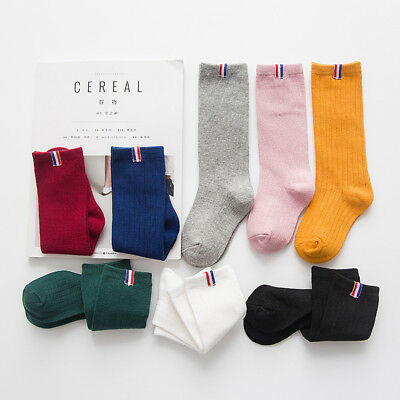 Cotton Children Socks Boys Girls  Knee Socks Autumn Winter Kids Accessories