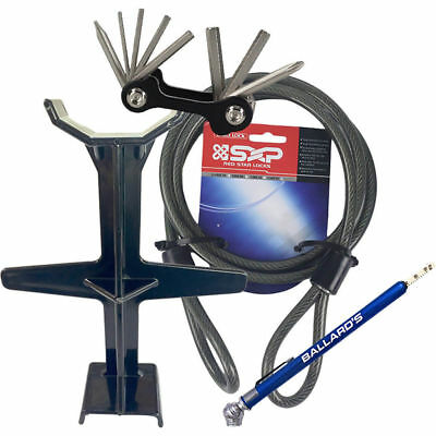 Ballards NEW Mx Fork Support Security Cable Tyre Gauge Multi Tool Combo Bundle