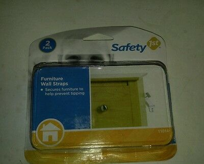 Safety 1st 2-Pack Furniture Wall Straps for Baby Safety (Damaged Box)