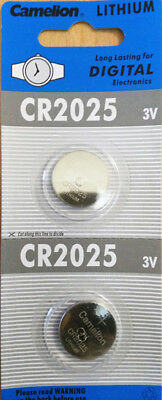 2pcs CR2025 3V Lithium Button Coin Cell Battery Electronics Watch Camera Toy