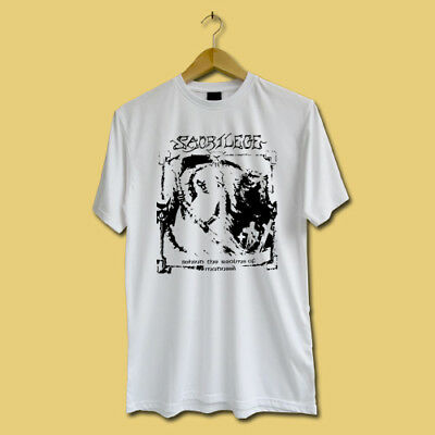 New Sacrilege Behind The Realms Of Madness 1985 T-shirt White Shirts TEE S-2XL