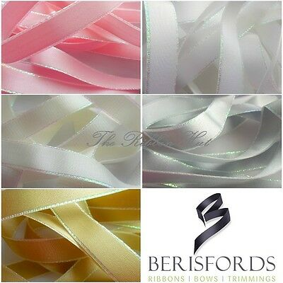 Iridescent Edge Satin Ribbon-5 Colours- 3 Lengths- 2/5/10M-Crafts,Baby Shower