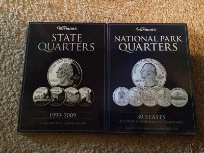 50 US State Quarters Complete set plus 6 Territory and 39 National Park Quarters