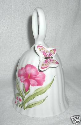Bell Collectibles - Pink Flower With Attached Butterfly