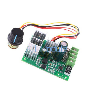 DC 6-60V 30A PWM Motor Speed Controller Module Dimmer Current Regulator+