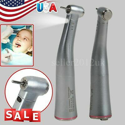 Dental 1:5 Electric Fiber Optic Contra Angle Increasing Handpiece Red Ring F/NSK