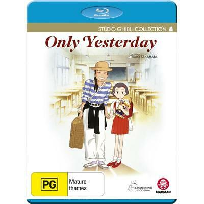 Only Yesterday Studio Ghibli Collection Blu-ray BRAND NEW SEALED FREE POST