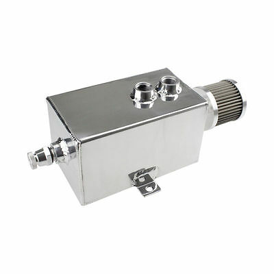 3L AN10 Inlets Aluminium Öl Auffangbehälter with Breather & Drain Tap Oil Catch