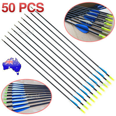 "5-50x 32"" Fiberglass Arrows Archery Hunting Target Compound Bow Fiber Glass Bows"
