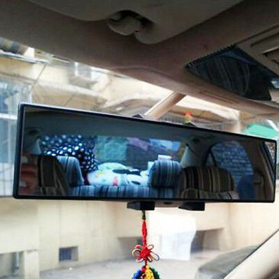 Universal 300mm Panoramic Curve Convex Interior Clip On Rear View Mirror Safety